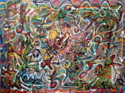 Outsider Art Mixed Media - Mystic carnival 2 by Gregory Theobal