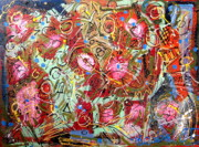 Outsider Art Mixed Media - Mystic Carnival 3 by Gregory Theobal