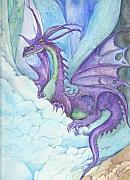 Legend  Mixed Media - Mystic Ice Palace Dragon by Morgan Fitzsimons