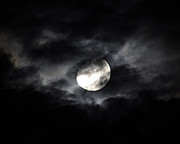Gibbous Moon Prints - Mystic Moon Print by Al Powell Photography USA