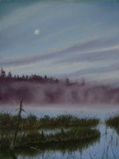 North Shore Pastels Posters - Mystic Morning Poster by Kathy Dolan