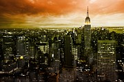 New York City Skyline Framed Prints - mystic New York Framed Print by Marcel Schauer