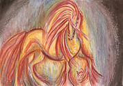 Francis Drawings Prints - Mystic Series - Equine Print by Remy Francis