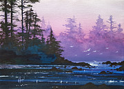 Pacific Northwest Fine Art Print Painting Originals - Mystic Shore by James Williamson