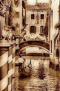 Gondola Ride Prints - Mystical Canals Print by Greg Sharpe