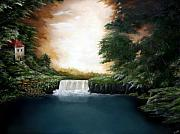 Falls Paintings - Mystical Falls by Ruben  Flanagan