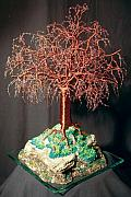 Tr Sculptures - Mystical Island - Wire Tree Sculpture by Sal Villano