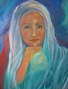 Religious Drawings - Mystical Woman by Suzanne Reynolds