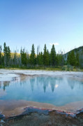 Yellowstone Photos Prints - Mystical Yellowstone Pool Print by Brent Parks