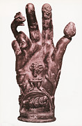 Fingertips Prints - Mythological Hand Print by Photo Researchers