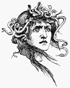Medusa Metal Prints - Mythology: Medusa Metal Print by Granger