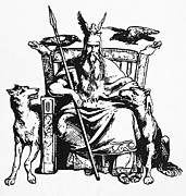 Bird Dog Posters - Mythology: Odin (woden) Poster by Granger