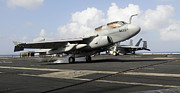Prowler Photos - N Ea-6b Prowler Makes An Arrested by Stocktrek Images