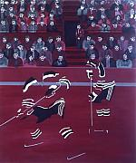 Hockey Painting Originals - N J D by Yack Hockey Art
