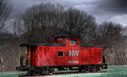 Caboose Photo Prints - N W Caboose Print by Todd Hostetter