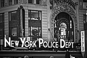 New York Police Station Prints - N Y P D Print by Gwyn Newcombe