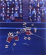 Hockey Painting Posters - N Y R Poster by Yack Hockey Art