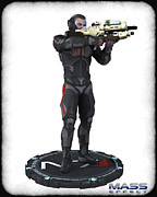 Mass Effect Metal Prints - N7 soldier v1 Metal Print by Frederico Borges