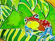 Frogs Tapestries - Textiles Posters - Na Froggy Poster by Kelly     ZumBerge