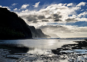 Sunset Photo Prints - Na Pali Coast Kauai Hawaii Print by Brendan Reals