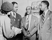 Naacp Framed Prints - Naacp Leaders During Press Conference Framed Print by Everett