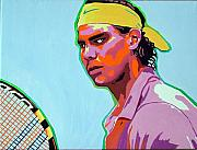 Racket Painting Framed Prints - Nadal Framed Print by Gail Zavala