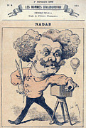 Caricature Framed Prints - Nadar, Caricature Of Photographer Framed Print by Everett