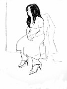 Pensive Drawings - Nadia by Joanne Claxton
