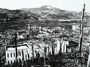 Atomic Bomb Photos - Nagasaki, Japan by Photo Researchers