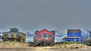 Beach House Posters - Nags Head Doll Houses Poster by Brad Scott