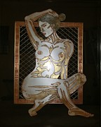 Metal Art Sculpture Posters - NAKED in the BORDER Poster by Edmundo De Guzman