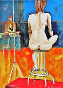 Ion vincent DAnu - Naked Lady on a Red Carpet