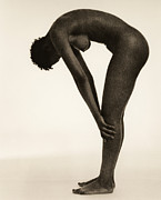 Bending Prints - Naked Woman Bending Over Print by Cristina Pedrazzini