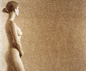 Buttock Prints - Naked Woman Print by Cristina Pedrazzini