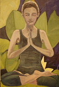 Namaste Paintings - Namaste by Carrington Brown