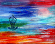 Transformation Paintings - Namaste by The Art With A Heart By Charlotte Phillips