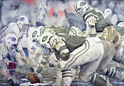 Sports Paintings - Namath by Rich Marks