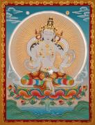Indian Guru Framed Prints - Namcho Vajrasattva Framed Print by Sergey Noskov