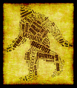Bigfoot Posters - Names For Bigfoot Word Cloud Poster by David G Paul