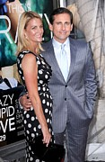 Nancy Prints - Nancy Carell, Steve Carell At Arrivals Print by Everett