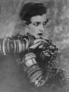 Bracelets Metal Prints - Nancy Cunard 1896-1965, Heiress Metal Print by Everett