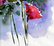 Rosebud Paintings - Nancy Janes Rose by Anne Duke