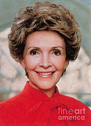 First Ladies Photo Framed Prints - Nancy Reagan, 40th First Lady Framed Print by Photo Researchers