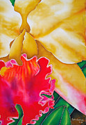 Orchids Tapestries - Textiles - Nancy Smith Orchid by Daniel Jean-Baptiste