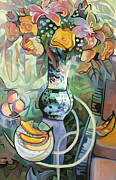 Yellow Bananas Paintings - Nancys Still Life by Gina Blickenstaff