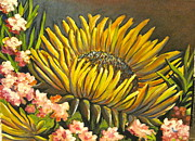 Oleanders Paintings - Nancys Sunflowers by Patty Rebholz