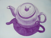 Teapot Painting Originals - Nancys Teapot by Stella Schaefer