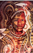 Nandi Prints - Nandi Girl Print by Balyeku Michael