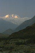 Light And Dark  Prints - Nanga Parbat At Sunrise Print by George F. Mobley