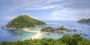 Panoramic Digital Art Originals - Nangyuan island Thailand  by Anek Suwannaphoom